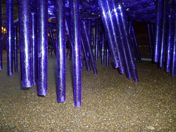 Acrylic metallic legs by Tars