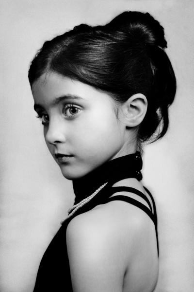Audrey Hepburn Inspired Portrait: Katie, Aged 7 by GManShorty