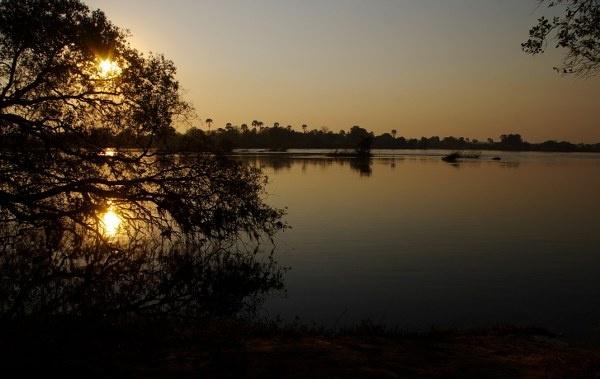 Sunrise over the Zambezi River by Maasie