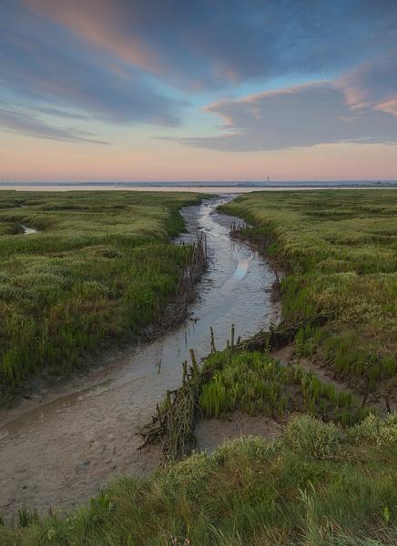 Saltmarsh sunrise by clive burrow