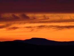 sunset over Ingleborough
