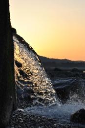 Sunset with splash