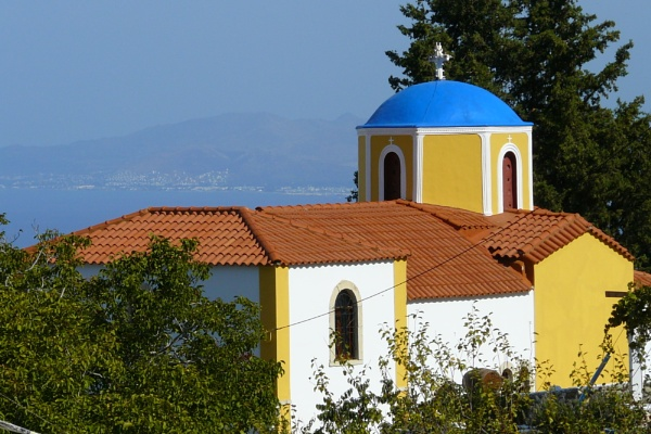 Kos mountain-top church by Suz3lah