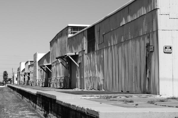 Old Cotton warehouses Postoffice Road Galveston Island Texas by kaoskode