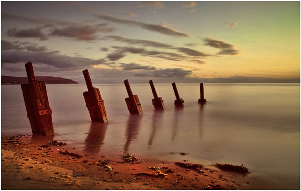 Sunset Groynes, Penmaenmawr. by Trout_Man