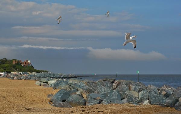 Felixstowe Beach Scene by mixpics