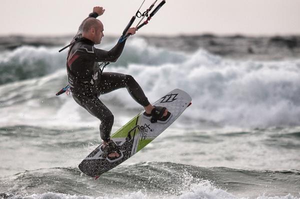 Kite Surfer, Watergate Bay, Cornwall, UK by nikonuseruk
