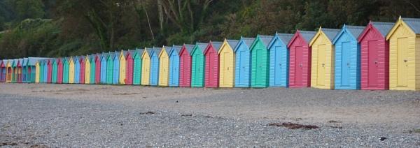 Colourful beach Huts by netta1234