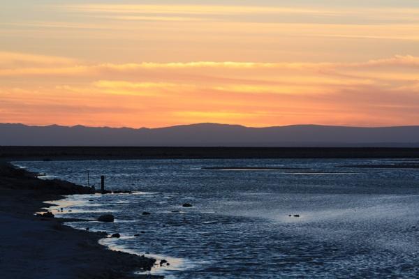 Atacama, Chile, sunset on the salt flats by buntytw26