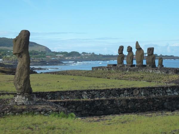 Moai Heads, Easter Island, Hanga ROa by buntytw26