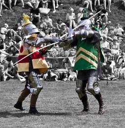 Battling Knights ...............