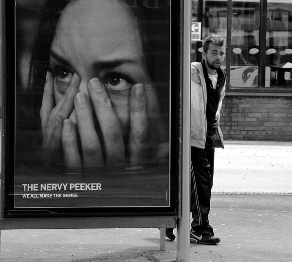 The nervy peeker. by franken