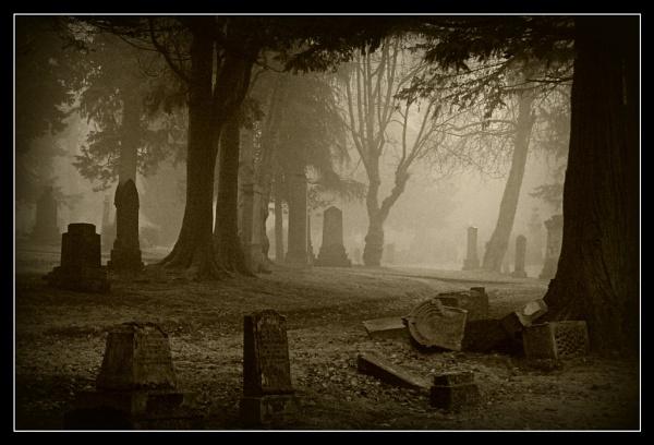 Greenock Cemetery in the Mist by fozzie75