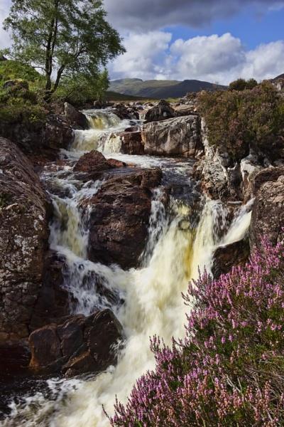 Waterfall at Buachaille etive Mor, Glencoe, Scotland by paulbaybutphotography