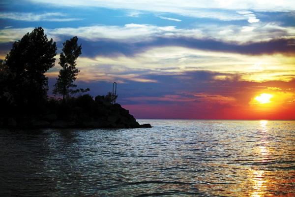 beautiful sunset by blkwolf007