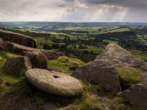 Curbar stone Derbyshire Peak District by RoyChilds