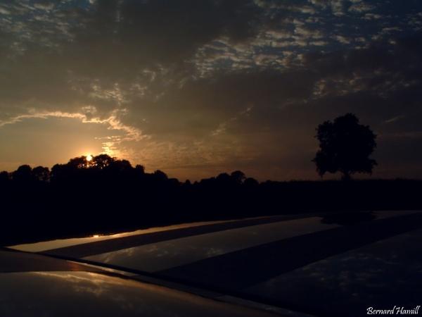 September Sunset by barn yard
