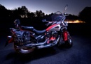Motorbike lit using home made LED light