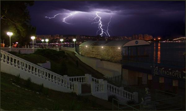Storm in Gelendzhik by ValeryAst