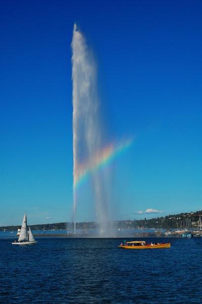 Rainbow Jet d\'eau by millaross