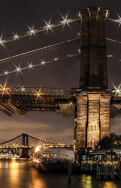 Manhattan and Brooklyn Bridge by guitarman74uk