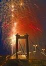 Fireworks on Tamar Bridge