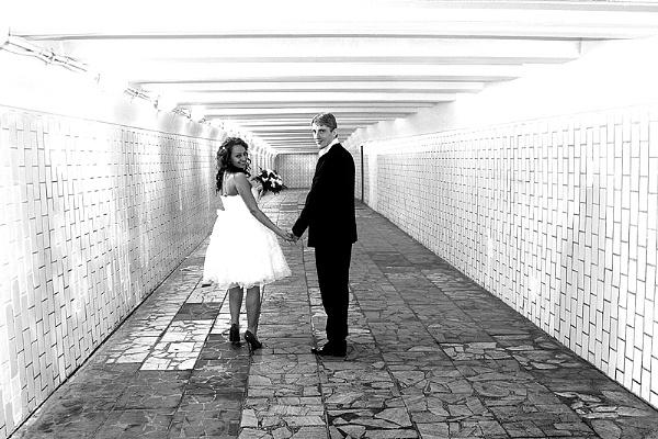 Underpass Bride by DavidA