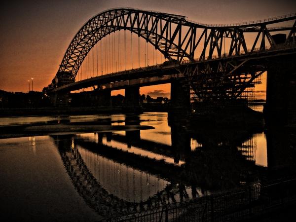 Sunset at Runcorn Bridge by SexyDan