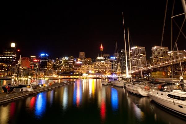 Nightlights of Darling Harbour Sydney NSW Australia by Mi_Images