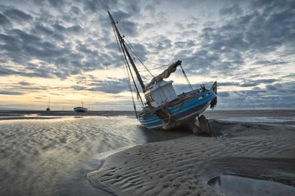 "\""CH.45\"" (Fishing Boat on Meols Shore) by razorraymac"
