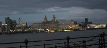 dusk over the mersey