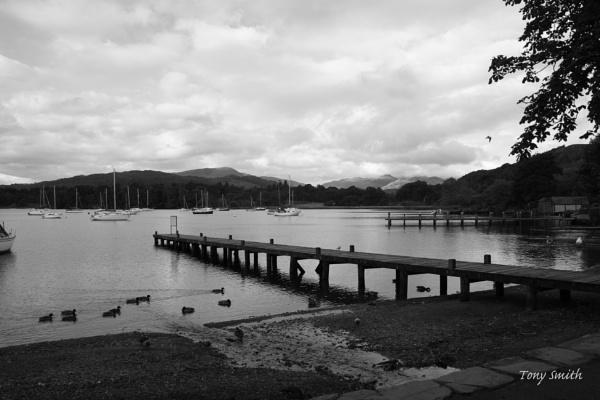 Lake Windermere in black white by mio2mio