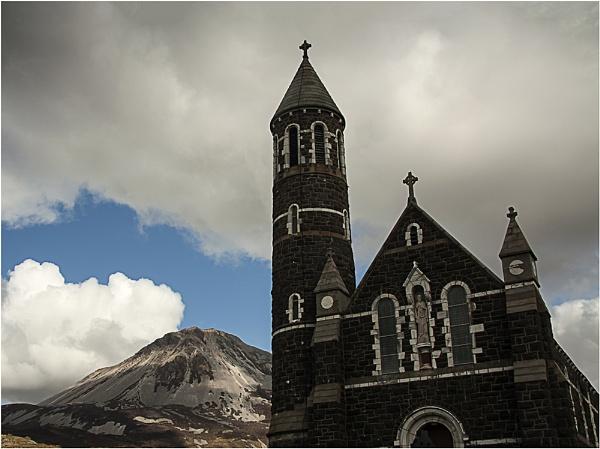 Mount Errigal & Dunlewey Parish Church by Irishkate