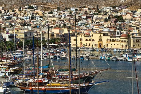 Kalymnos Harbour by WeeGeordieLass