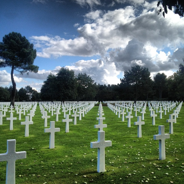 American Memorial Cemetery at Omaha Beach, Normandy by AnthonyConlon