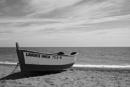 Stranded boat on the Med