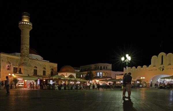 Kos Town at Night by WeeGeordieLass