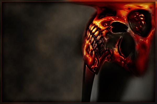 Fire Skull by Morpyre