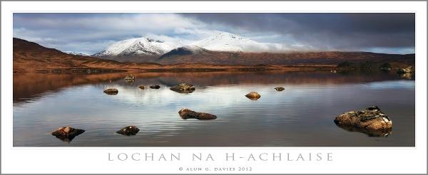 The Black Mount in White by Tynnwrlluniau