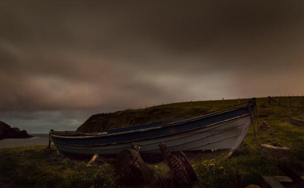 Wooden Boat at Spiggie Beach by MHenderson