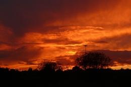 Angry western sky
