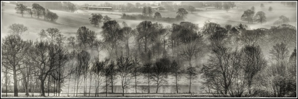 Mist on the lake by waggy55