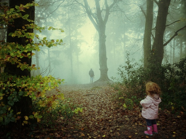 Walking in the mystic woods by lottycobb