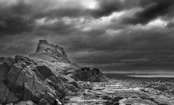 Storm over Lindisfarne by nstewart