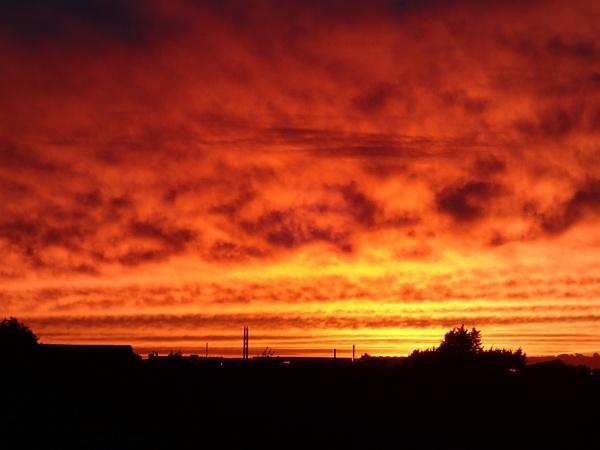 Fiery Sunset by nsutcliffe