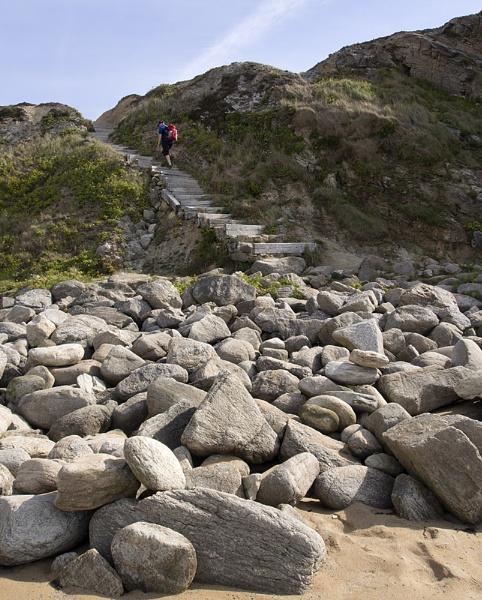 Cliff Steps by SandraKay