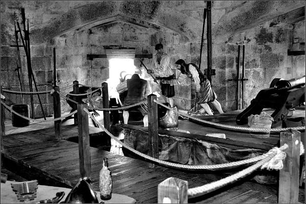 Pendennis Castle, The gun room 3. B&W.Nikon D3100. DSC_0331 by rpba18205