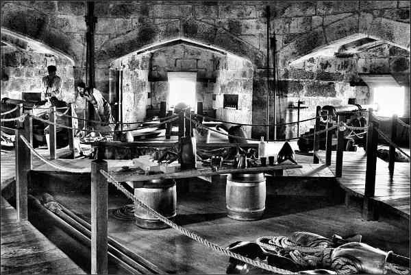 Pendennis Castle, The gun room 1. B&W.Nikon D3100. DSC_0328 by rpba18205