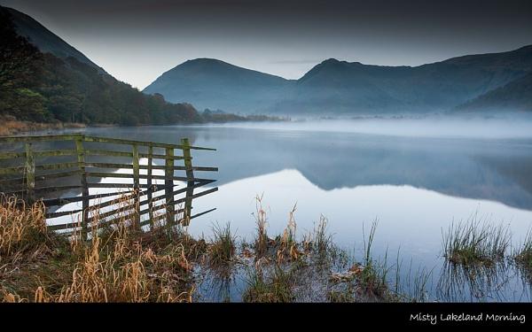 Misty lakeland Morning by stevie