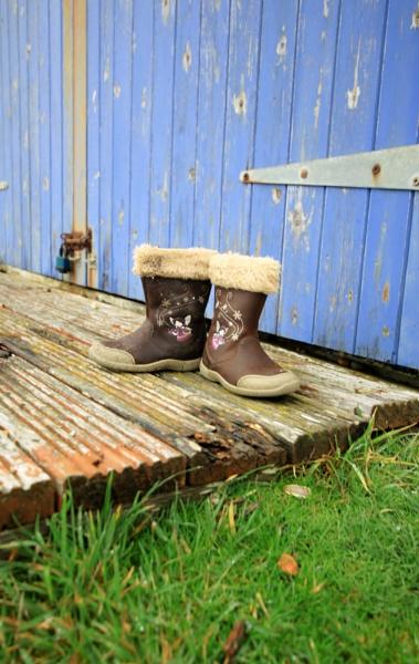 beach hut boots by Fatbaldhobbit